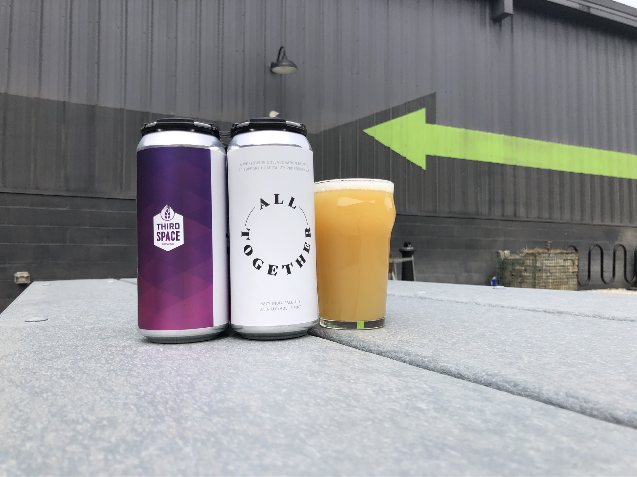 All Together Worldwide Collaboration Beer. Photo courtesy of Third Space Brewing.