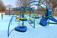 A closed playground at Humboldt Park. Photo by Jeramey Jannene.