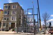 1245-1247 N. Milwaukee St. apartment building construction. Photo by Jeramey Jannene.