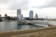 Lakeshore State Park and the Milwaukee skyline. Photo by Jeramey Jannene.