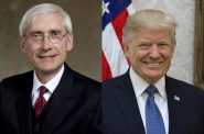 Tony Evers and Donald Trump.