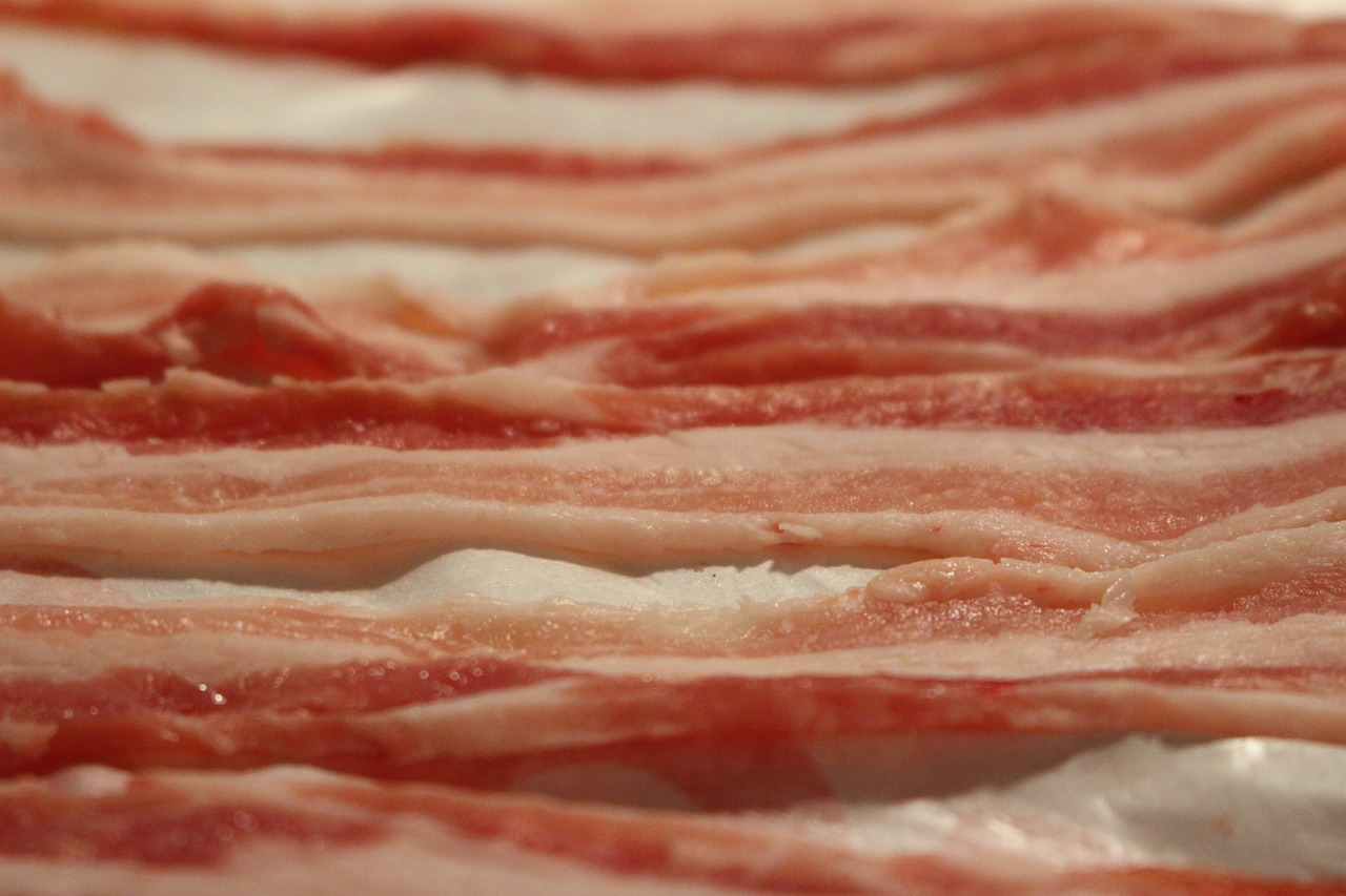 Bacon. Pixabay License Free for commercial use No attribution required