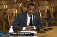 Council President Cavalier Johnson addresses his colleagues. Image from the City of Milwaukee City Channel.