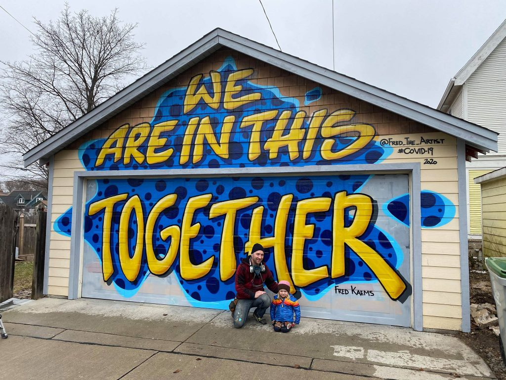 """We Are In This Together,"" by Fred Kaems. Photo courtesy of Kari Kaems."