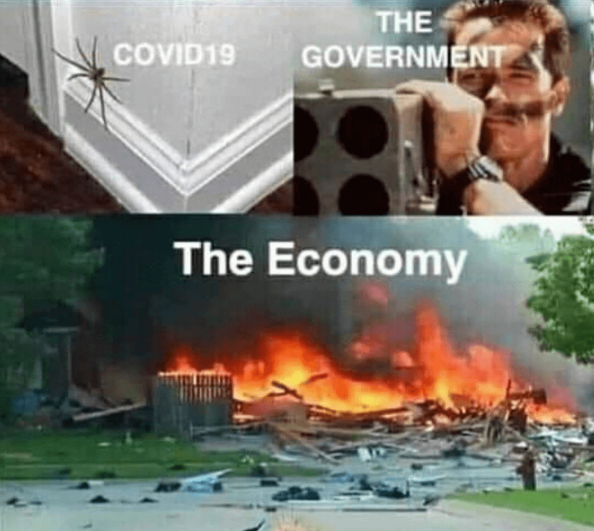 The Reopen Wisconsin group page is filled with memes against government responses to COVID-19.