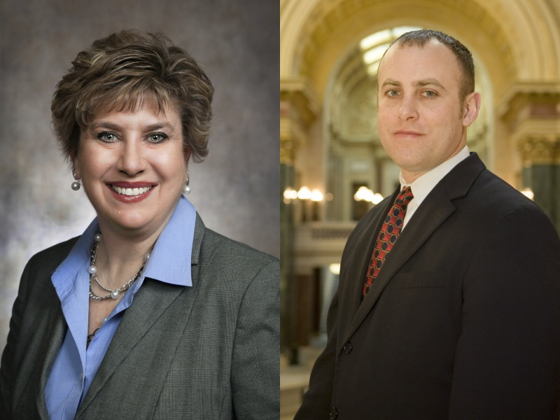 Jennifer Shilling and Gordon Hintz. Photos from the State of Wisconsin.