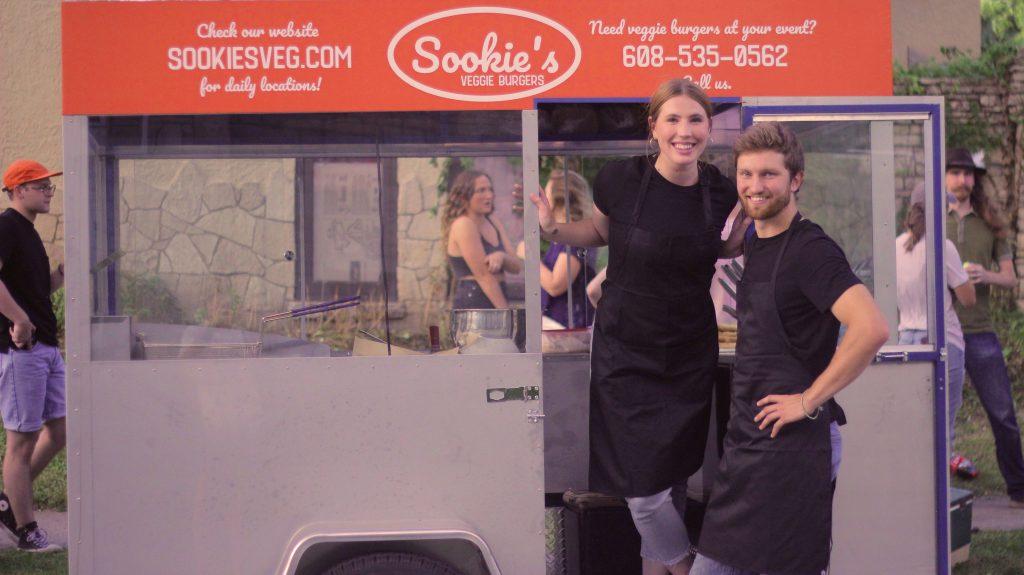 John McCune and Elle Borden, owners of Sookie's Veggie Burgers. Photo courtesy of Sookie's Veggie Burgers.