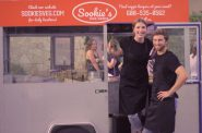 John McCune and Elle Borden, owners of Sookie's Veggie Burgers. Photo courtesy of Sookie's Veggie Burgers.