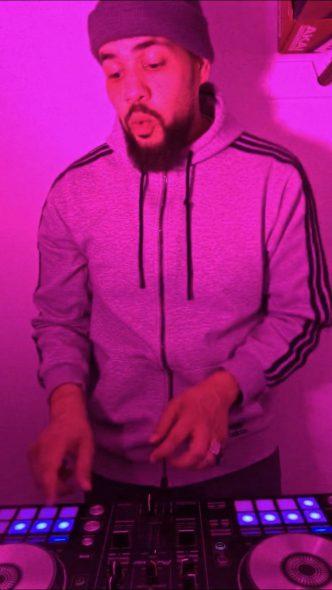 Joshua Adam Harwell, also known as DJ Adamocity, livestreams a DJ set during quarantine. Photo provided by Joshua Adam Harwell/NNS.