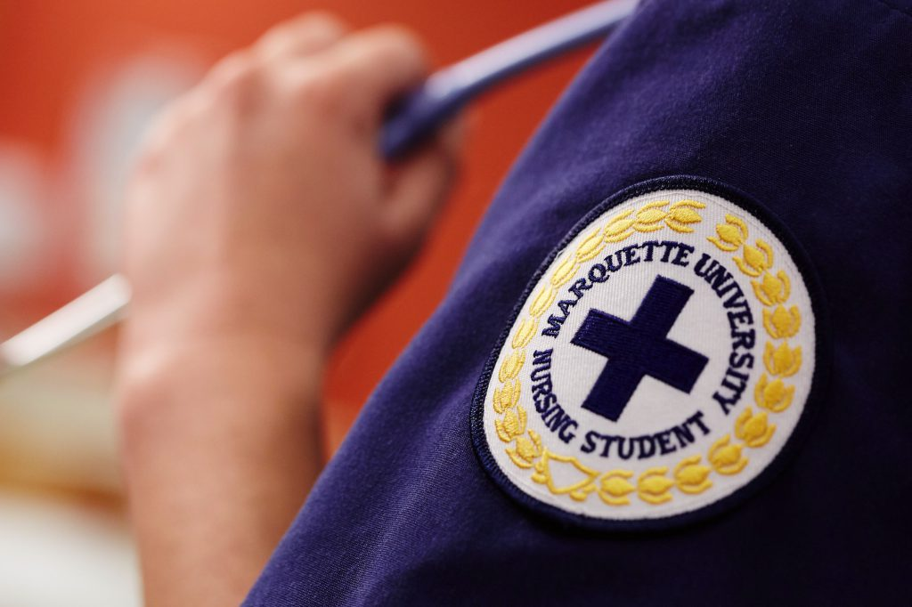 Marquette nursing patch. Photo courtesy of Marquette University.
