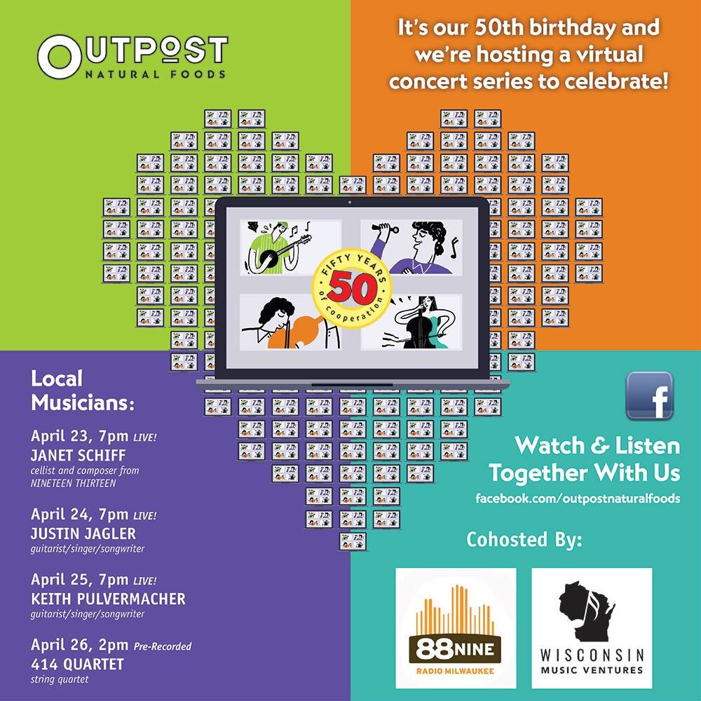 Free Virtual Concert Series Hosted by Outpost Natural Foods Thursday – Sunday