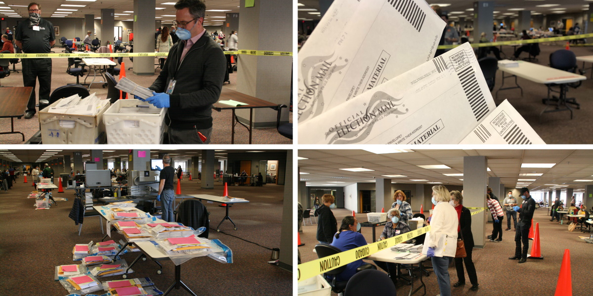 Absentee vote counting in the city of Milwaukee. Photos by Jeramey Jannene.