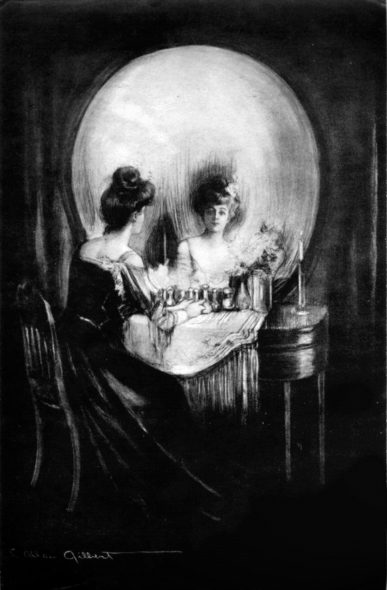 """All is Vanity,"" By Charles Allan Gilbert. (Public Domain)."
