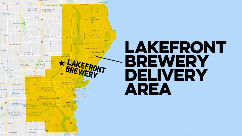 Lakefront Brewery delivery area.