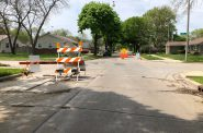 "W. Custer Ave. at N. 55th St., reconfigured to be an ""Active Street."" Photo by Jeramey Jannene."