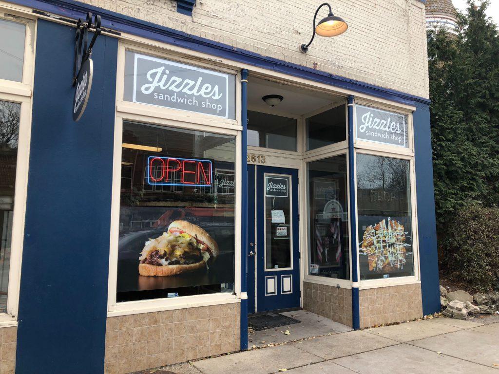 Jizzles Sandwich Shop. Photo by Jeramey Jannene.