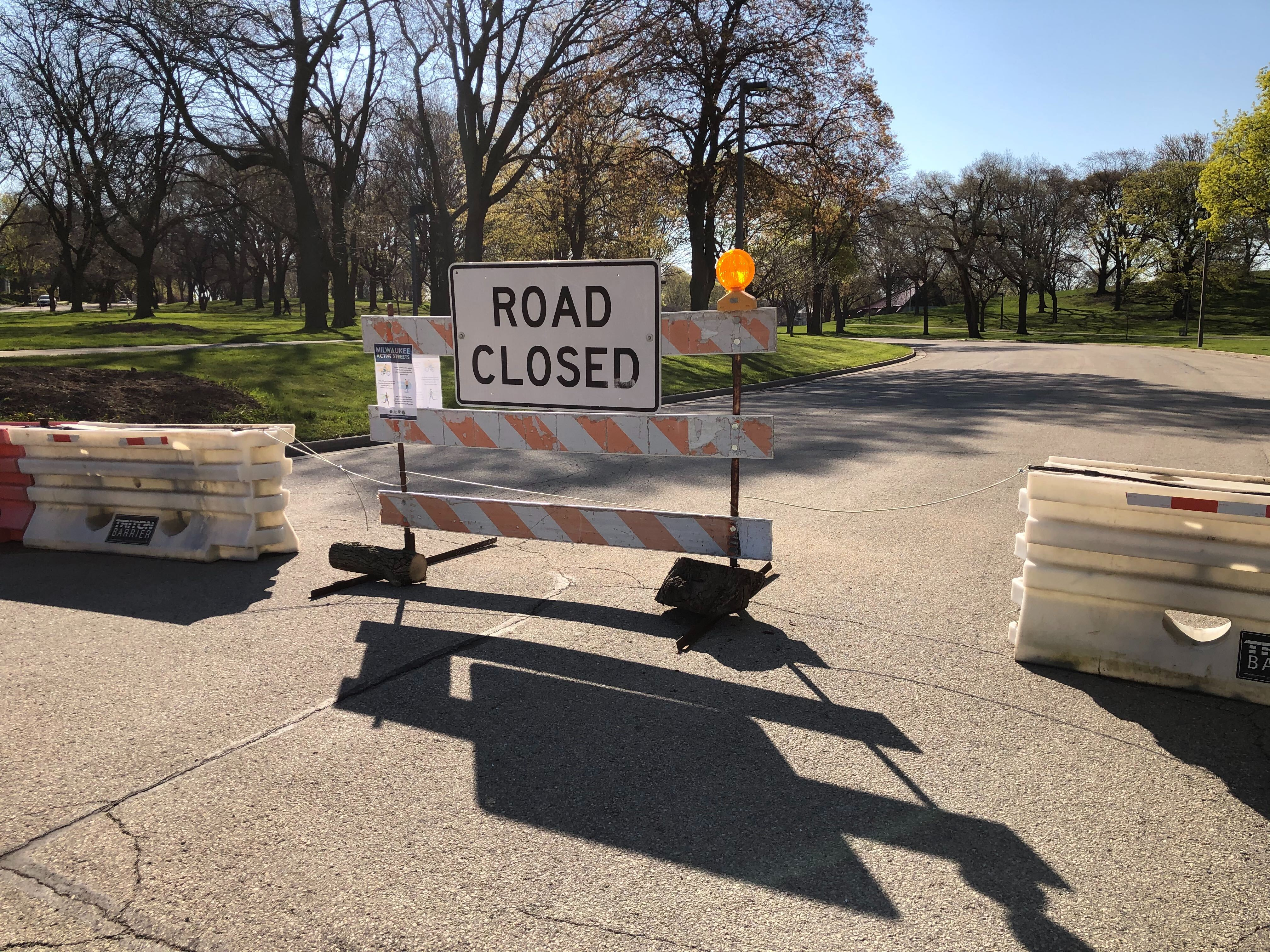 Active Streets closure of roads through Humboldt Park. Photo by Jeramey Jannene.
