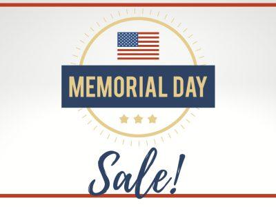Memorial Day Weekend Membership Sale
