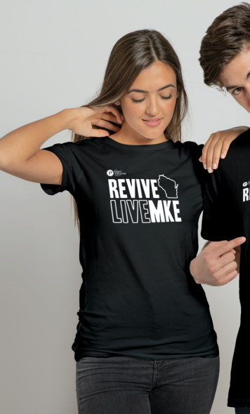 ReviveLiveMKE Shirt. Photo courtesy of the Pabst Theater Group.