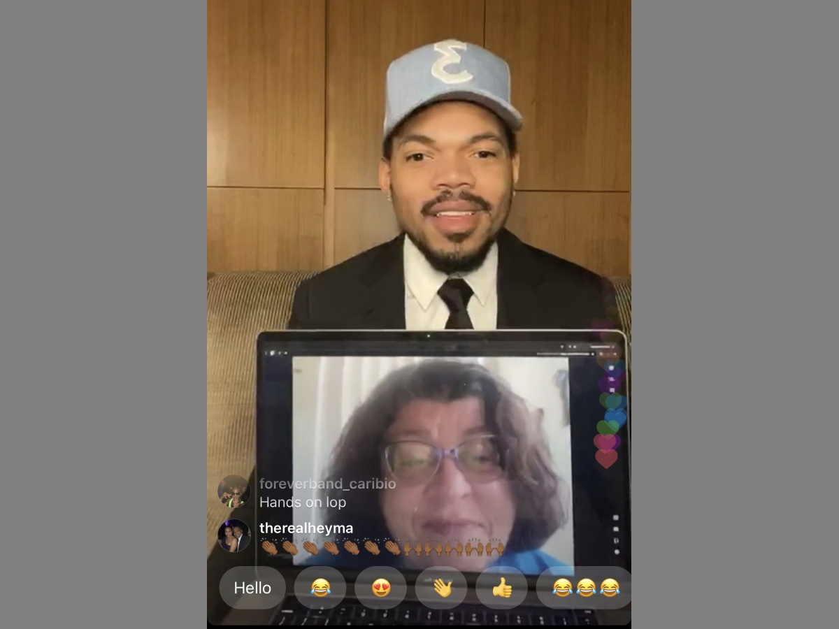 Chance the Rapper and Margaret Roushar. Image from Instagram.