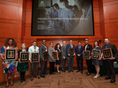 Faculty, Staff, Students, Community Partners Earn Medical College of Wisconsin President's Community Engagement Award