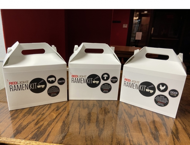 Red Light Ramen meal kits. Photo courtesy of Justin Carlisle/WPR.