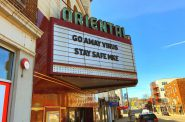 The Oriental Theatre during the COVID-19 pandemic. Photo by Dave Reid.