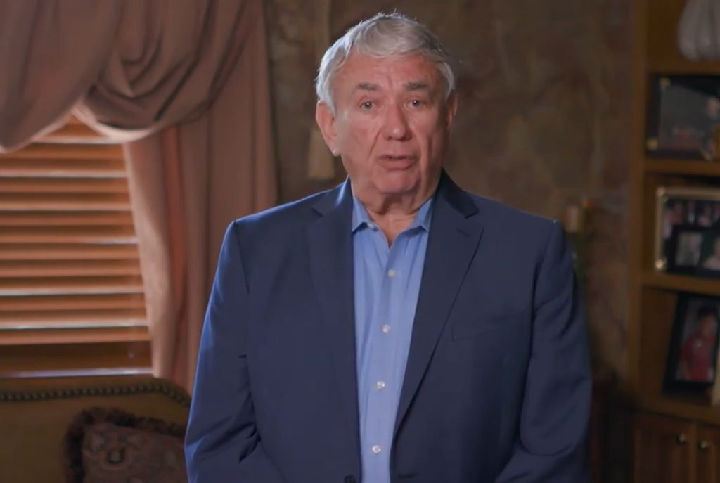 Former Wisconsin Gov. Tommy Thompson urges state residents to not put off getting necessary medical care during the COVID-19 pandemic, in a Wisconsin Hospital Association public service announcement released on Wednesday, May 27. Screenshot by Dave Reid.