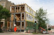New apartment building under construction at 1245 N. Milwaukee St. Photo by Jeramey Jannene.