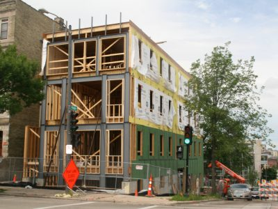 Friday Photos: New Downtown Apartment Building Takes Shape