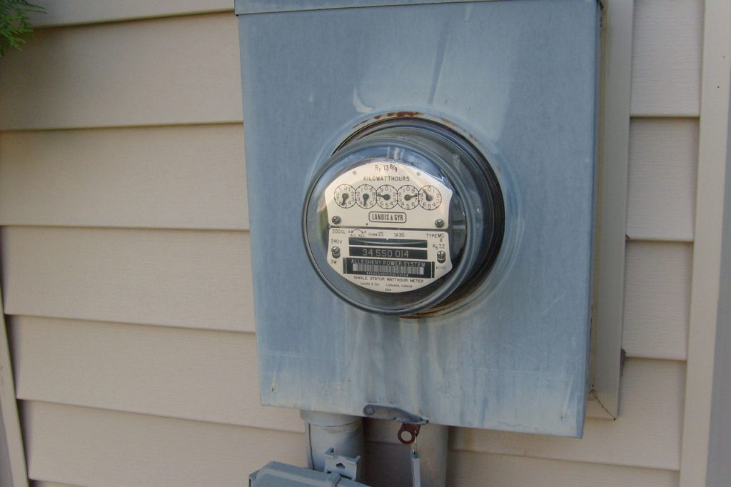 Electric meter. (CC0 Public Domain).