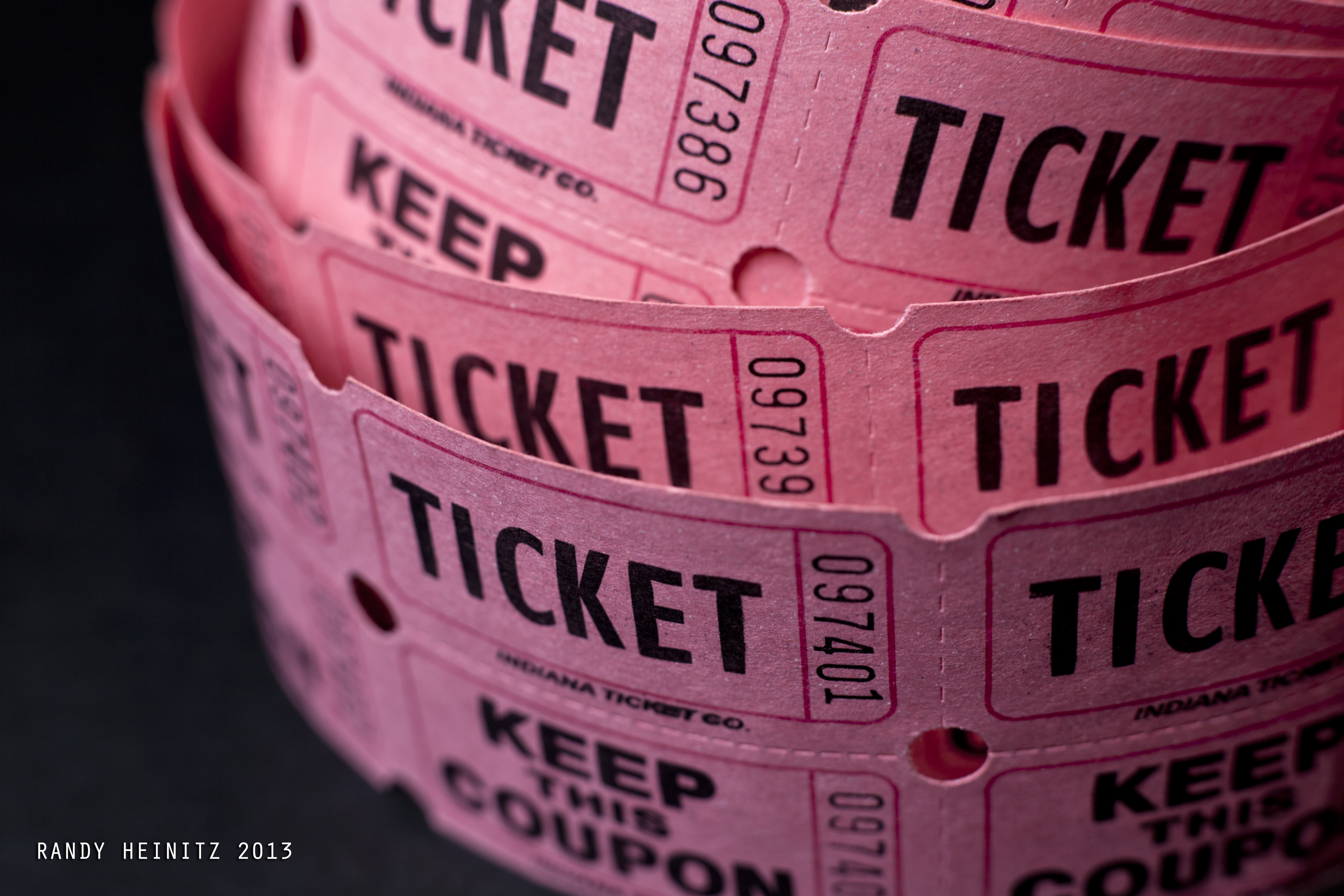 Raffle tickets. Photo by Randy Heinitz. (CC BY 2.0). https://creativecommons.org/licenses/by/2.0/