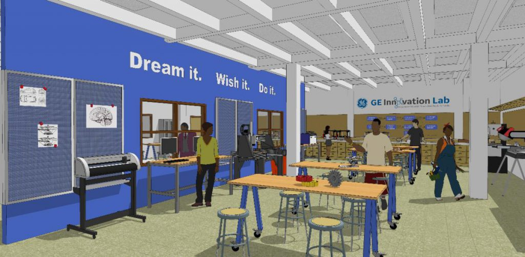 Innovation lab rendering. Rendering from MPS.