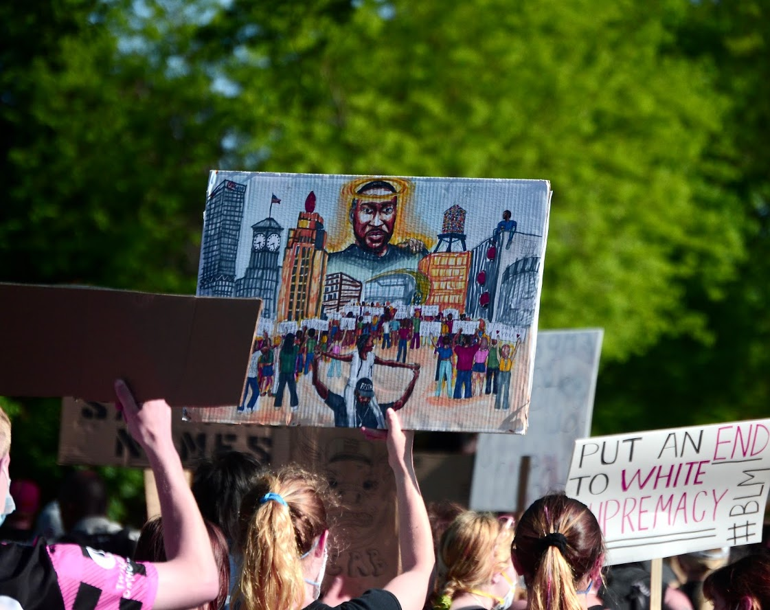 George Floyd protest on June 6th, 2020 by Maddy Day.