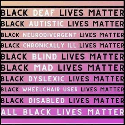 Accessible March for #BLM, Sunday June 7