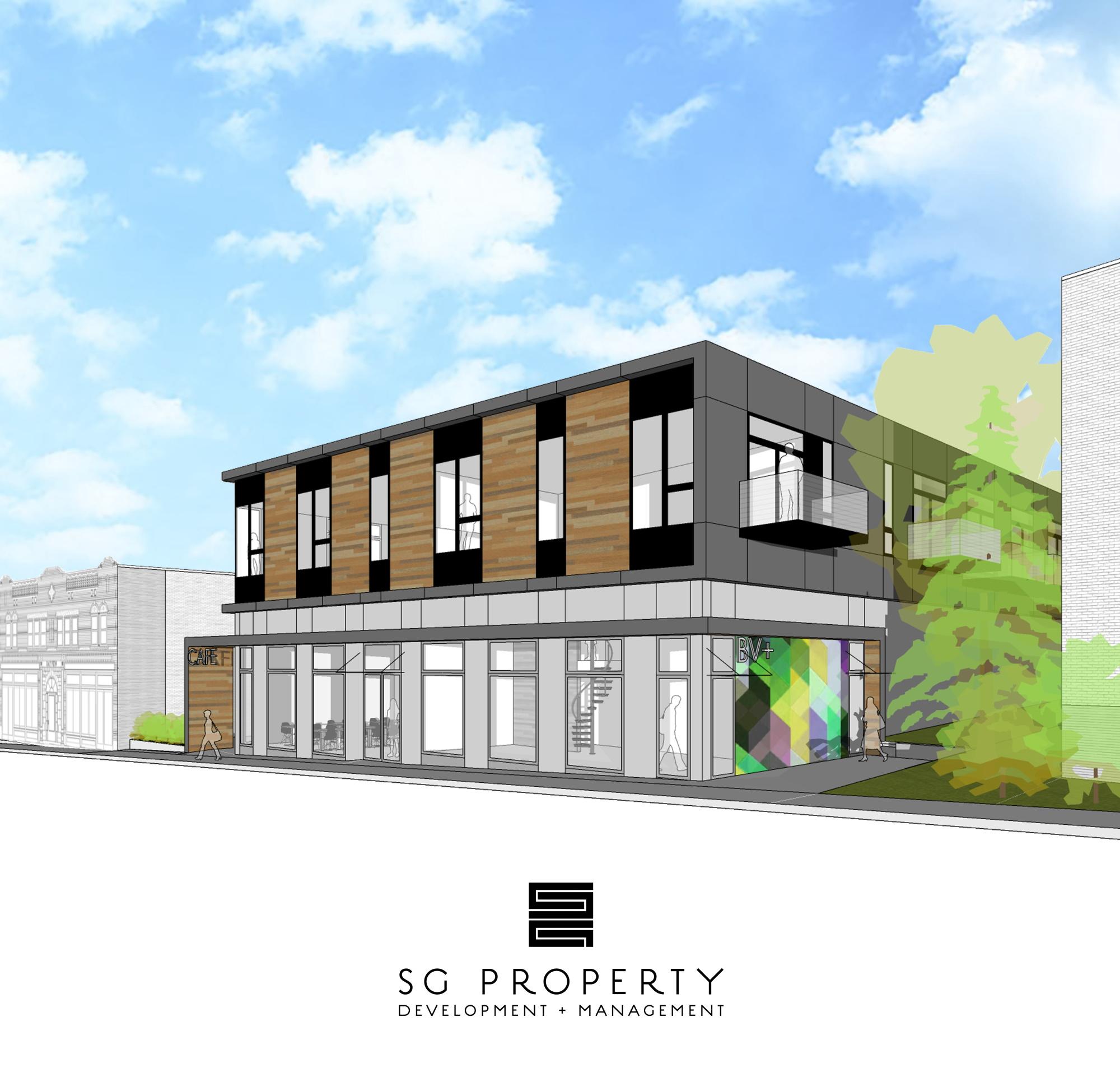 BV+ rendering. Rendering by SG Property Development + Management.