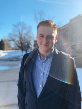 """Former University of Wisconsin-Milwaukee Student Association president Connor Mathias says students face a """"convoluted"""" process to vote in Wisconsin. Photo courtesy of Connor Mathias."""