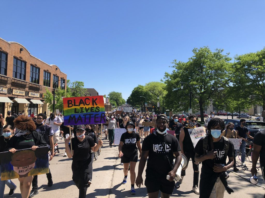George Floyd protest march on Saturday, June 6, 2020. Photo by Jeramey Jannene.