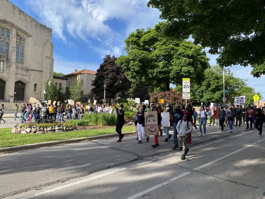 George Floyd protest on June 13th, 2020. Photo by Graham Kilmer.