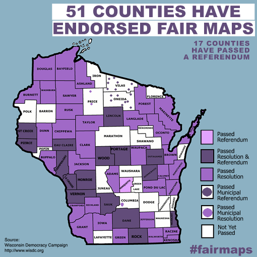 51 counties have endorsed fair maps