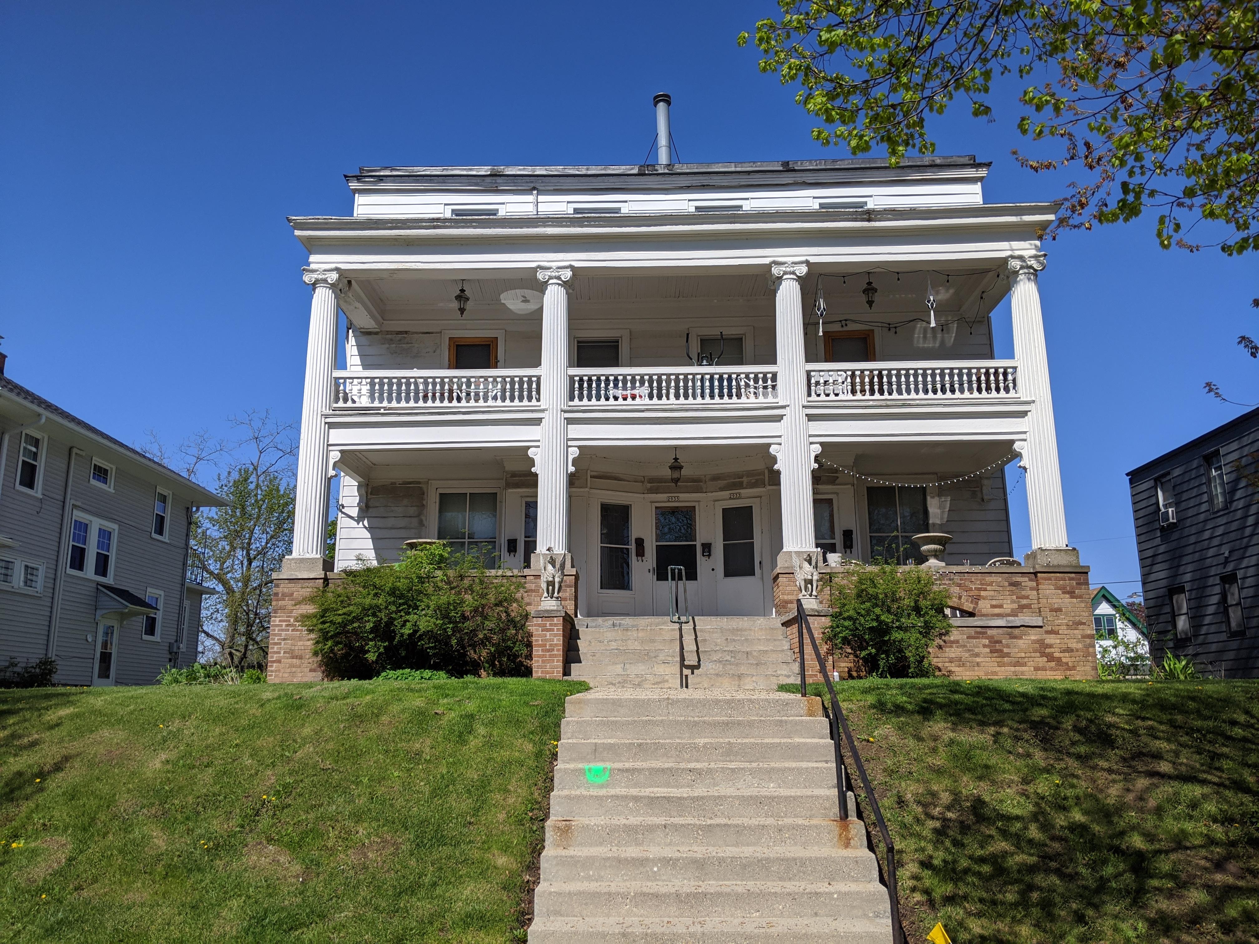 Henry Mann's home on S. Logan Avenue. Photo by Carl Baehr.