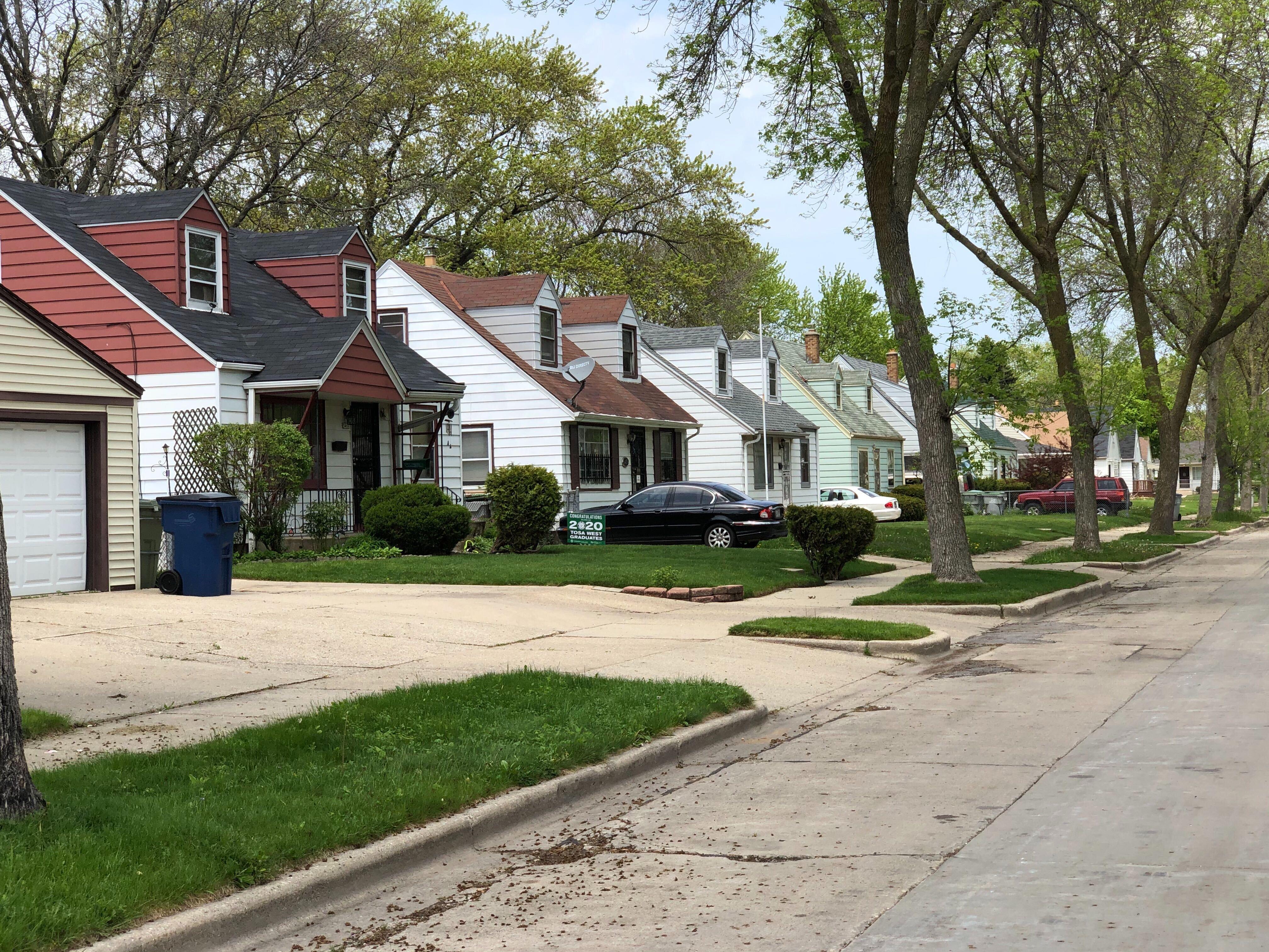 Homes on N. 56th St. Photo by Jeramey Jannene.