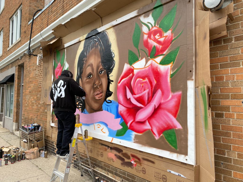 Breonna Taylor mural. Photo by Graham Kilmer.