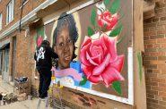 Breonna Taylor mural. Photo by Graham Kilmer.