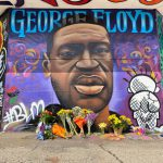 Artists Paint George Floyd Memorial on Riverwest-Harambee Border