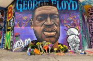 George Floyd mural. Photo by Graham Kilmer.