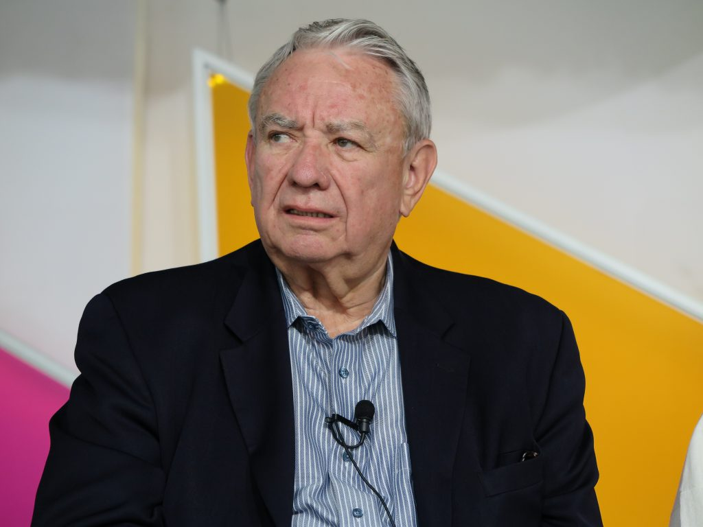 Tommy Thompson at Spotlight Health Aspen Ideas Festival 2015. Photo by Bluerasberry / CC BY-SA (https://creativecommons.org/licenses/by-sa/4.0).
