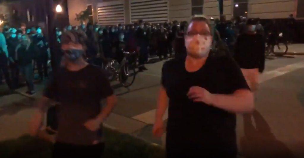 Just before Sen. Tim Carpenter is assaulted. Image from Carpenter's twitter video.