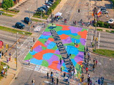 Black Lives Matter Mural Covers Milwaukee Intersection