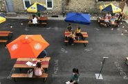 Transfer Pizza patio. Photo courtesy of Transfer Pizzeria Cafe.